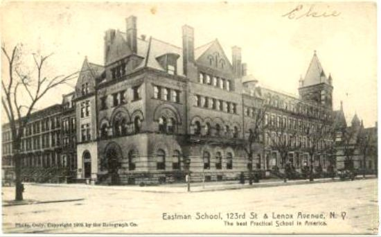 EASTMAN-SCHOOL-IN-HARLEM-LENOX-AVE-123RD-ST-NYC