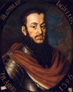 Portret t Władysława II Jagiełły.